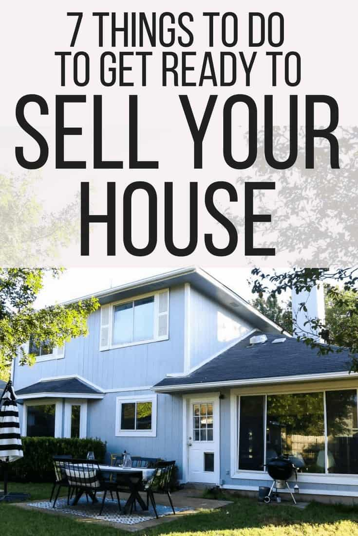 Tips for things to do before listing your house to sell so that you can sell it quickly. A quick checklist of the updates you should make to sell your house fast!
