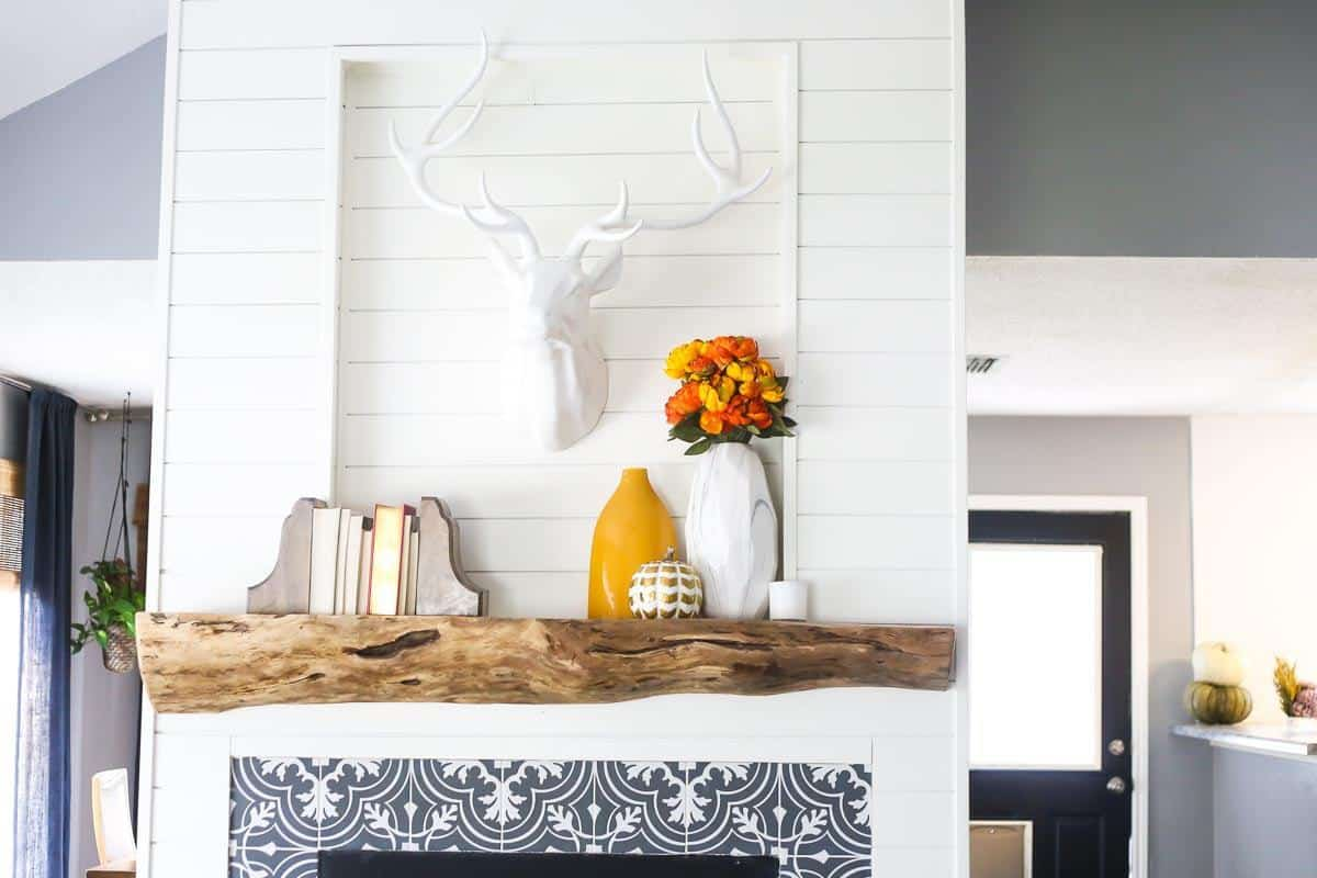 Our Rustic Diy Mantel How To Build A Mantel Love Renovations