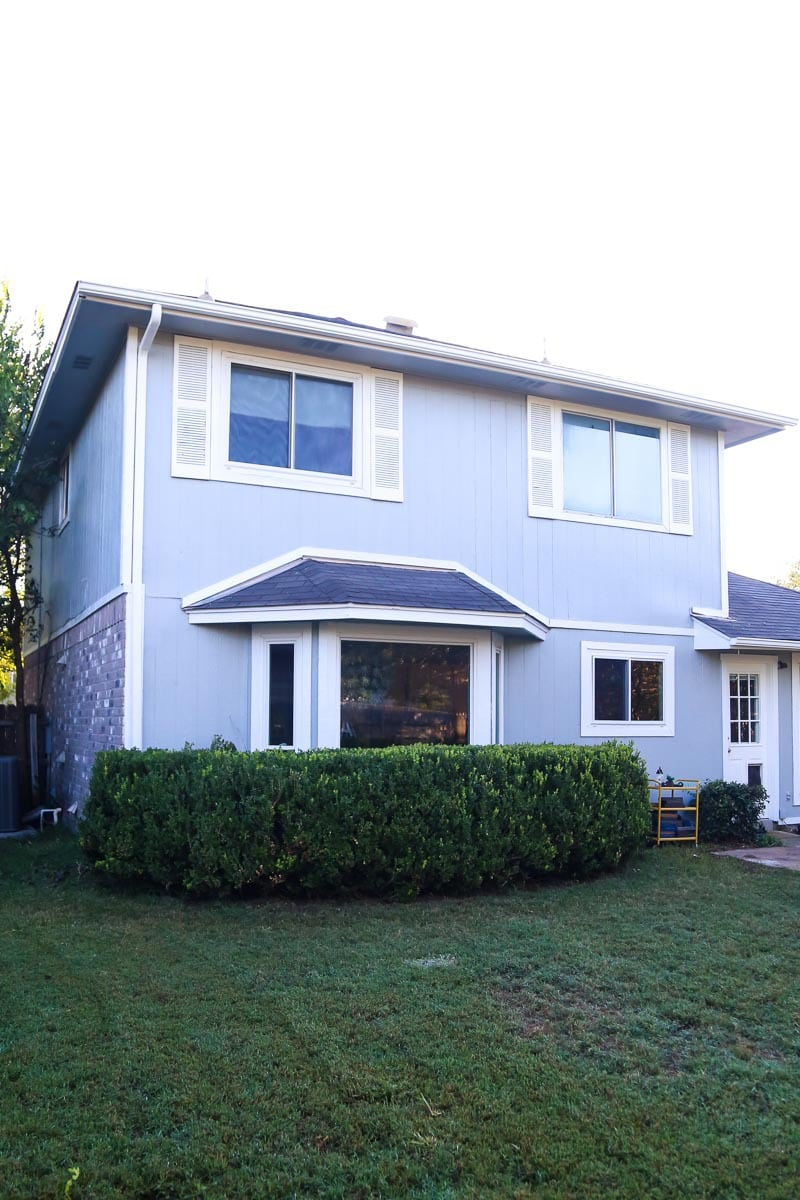 A look at what painting your house exterior looks like, plus before and after shots