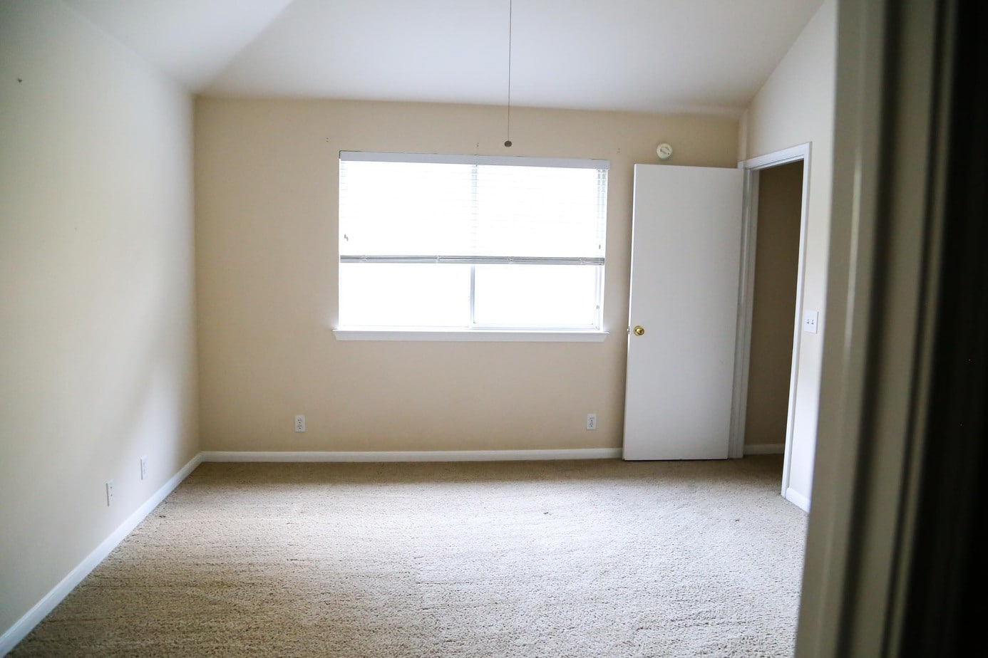 The master bedroom in the new house