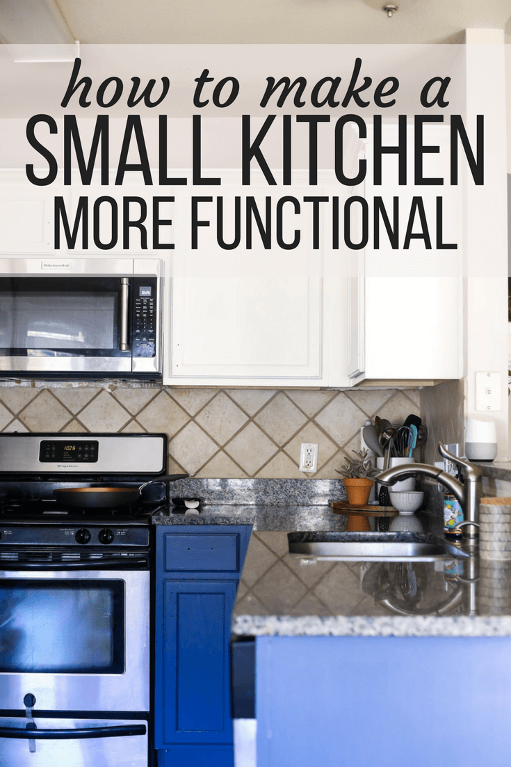 Organizing a small kitchen - 5 quick tips for keeping your small kitchen organized and functional, great kitchen counter organization tips, and things to help you keep your kitchen beautiful and clean.