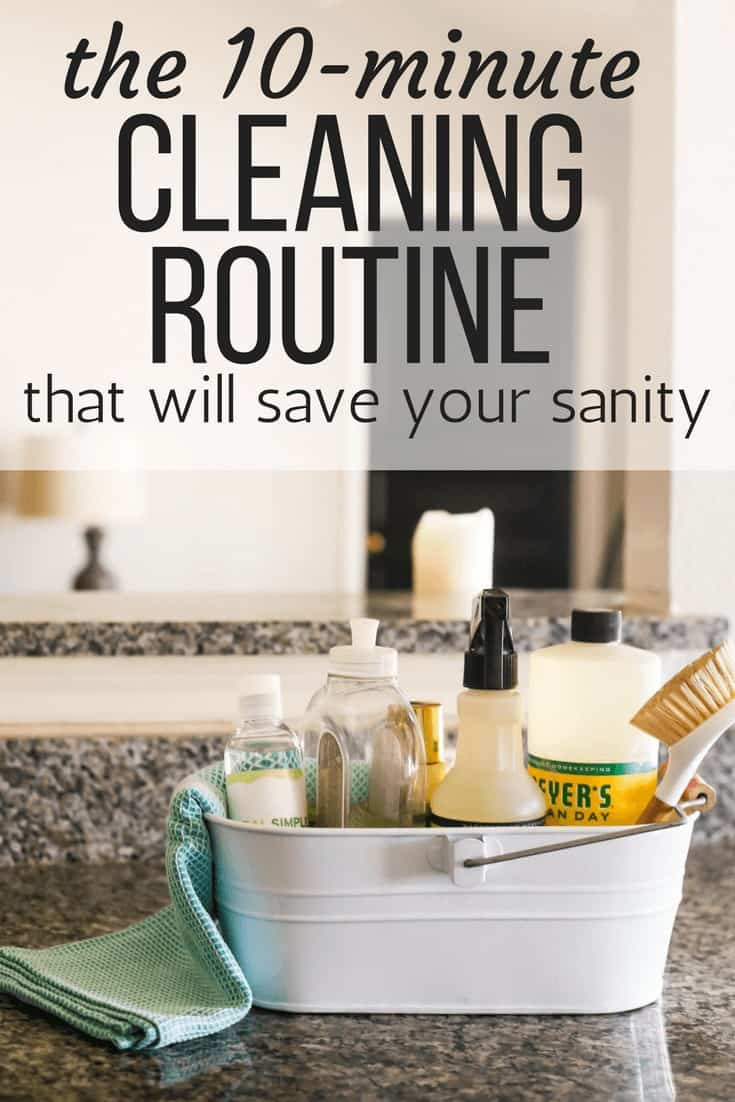 This simple daily cleaning routine will revolutionize your schedule and help you keep your home much cleaner without a ton of effort! Just 10 minutes a day will help you keep your home cleaner and more organized.