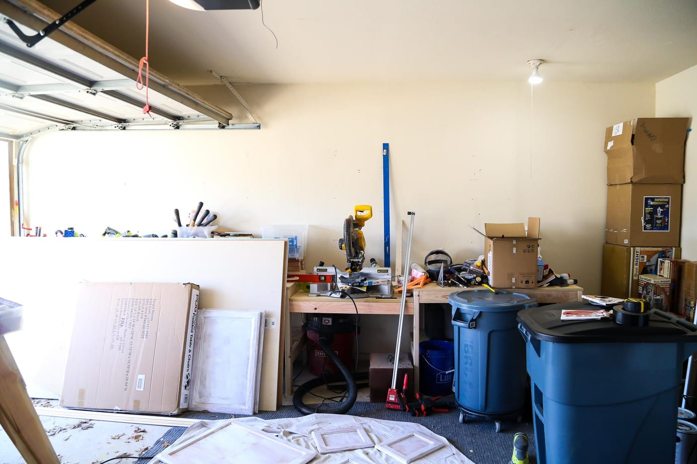 Planning stages of turning a garage into a workshop