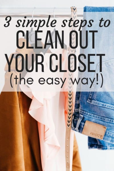 Quick tips for organizing your clothes and cleaning our your closet quickly and easily.