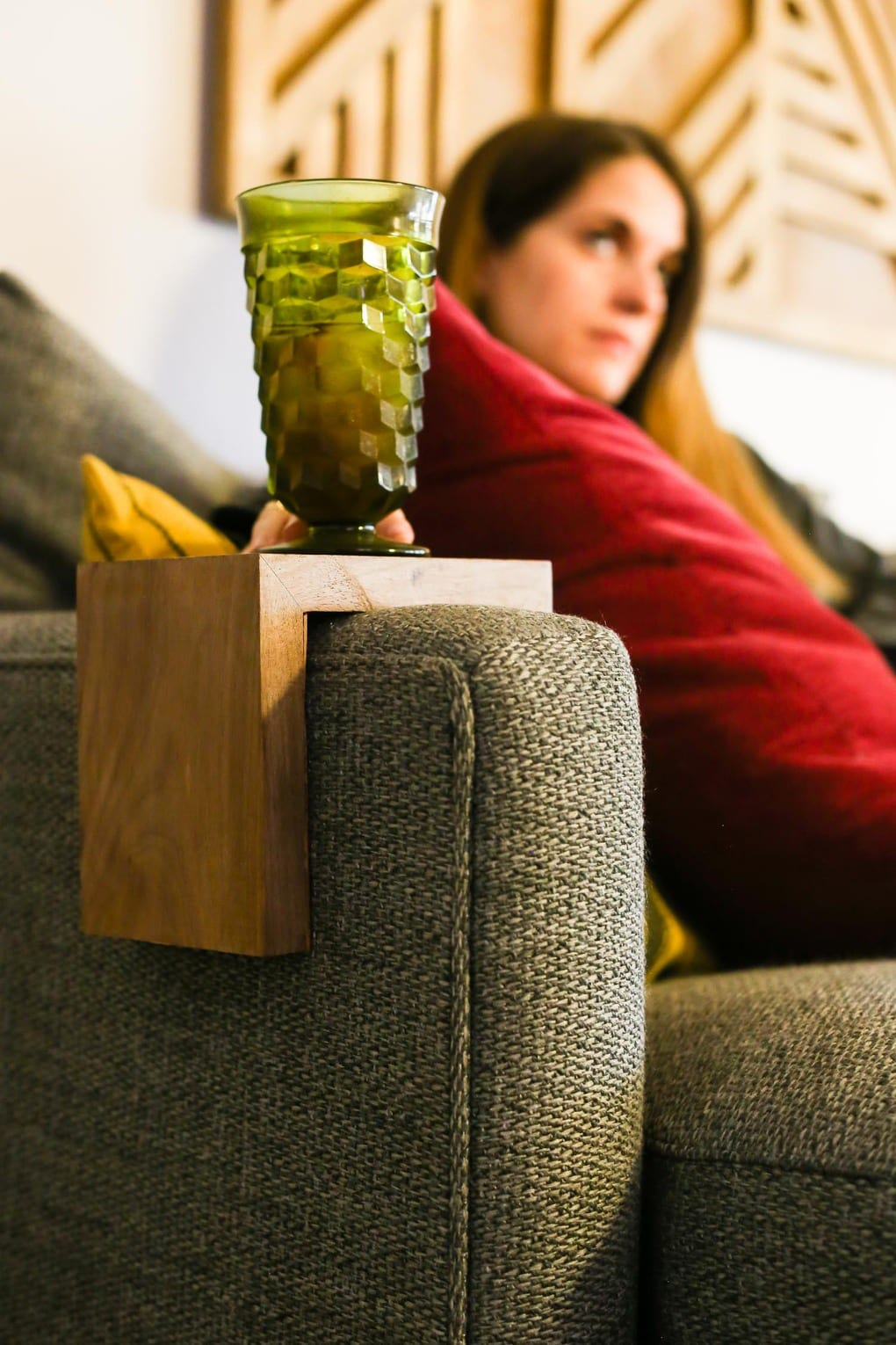 Couch arm table tutorial