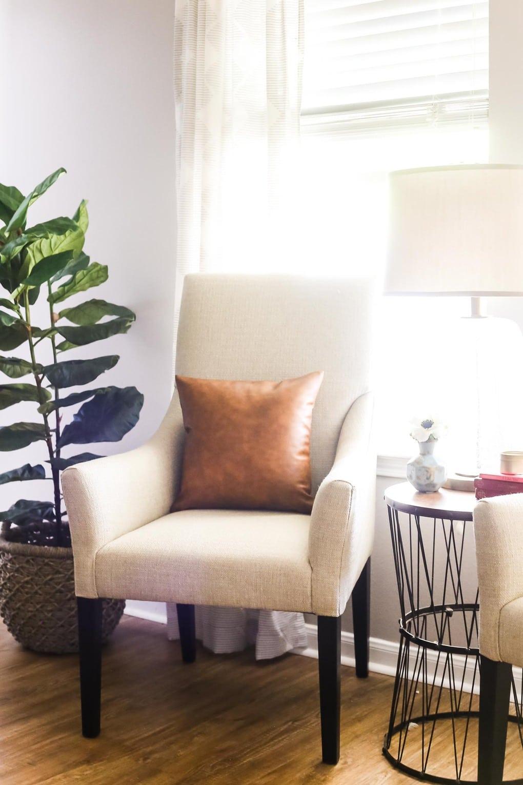 Bassett Furniture review- close up of two Austen arm chairs