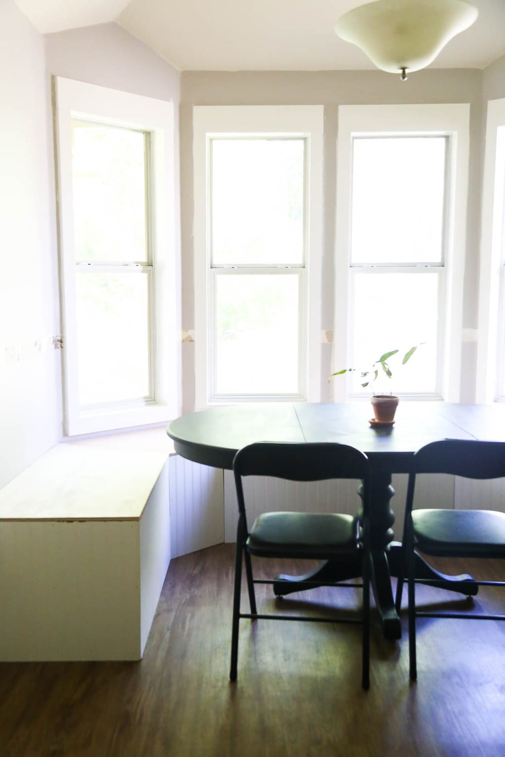 Our new dining room design: Built-in kitchen banquette seating