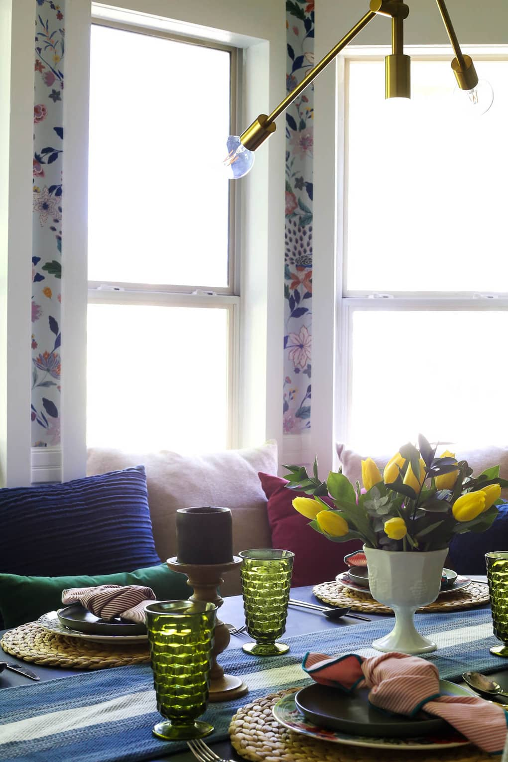 banquette in dining room