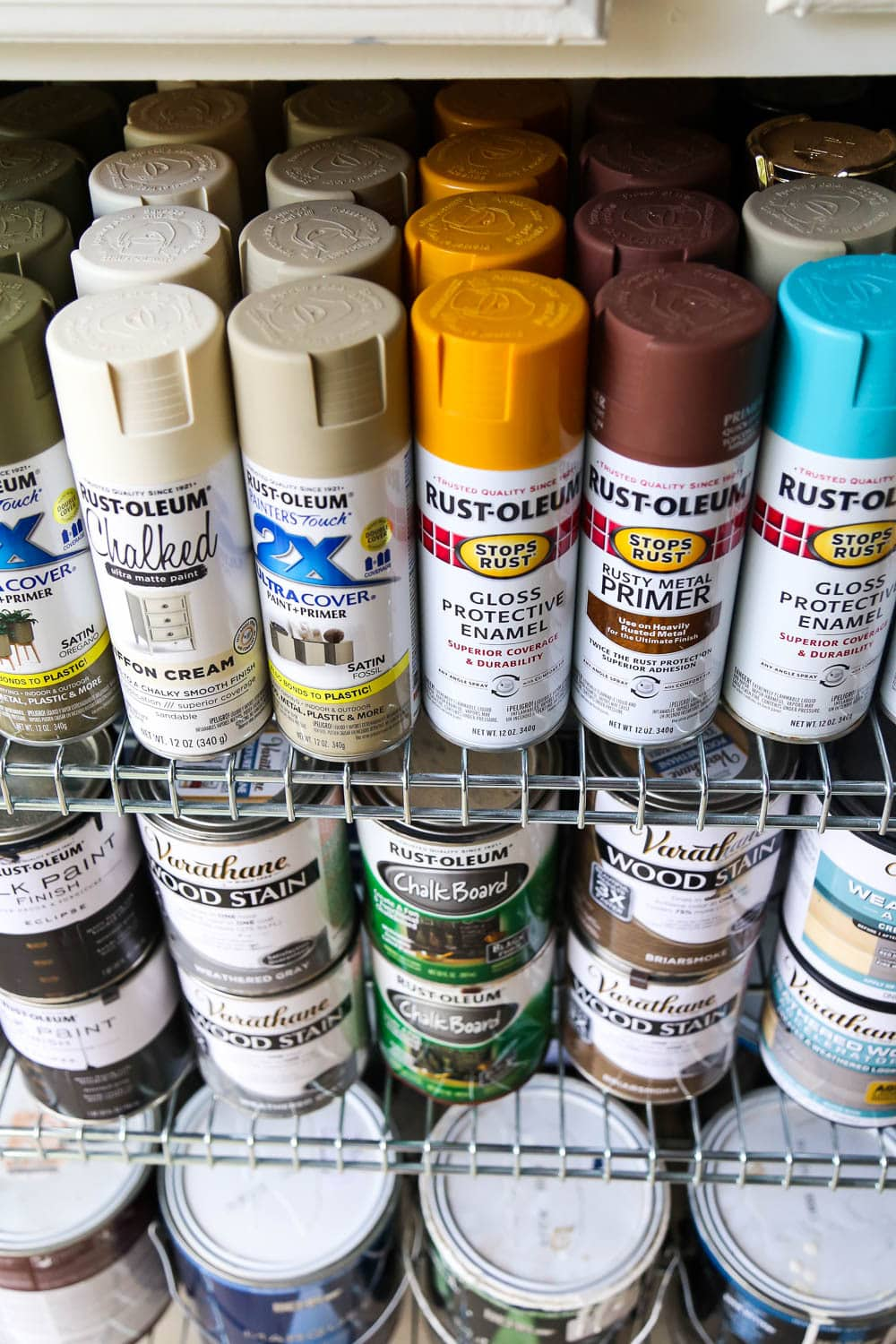 Spray paint organization
