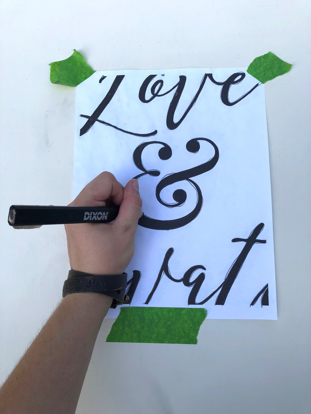 how to transfer letters to wood