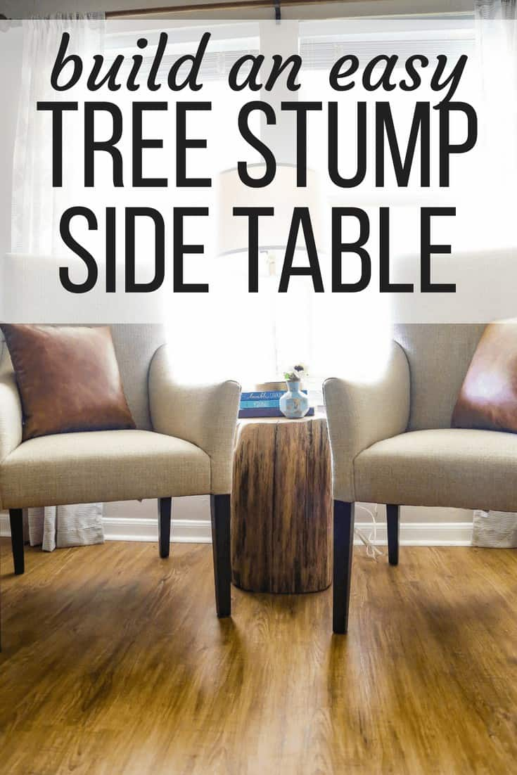 how to make a diy tree stump side table
