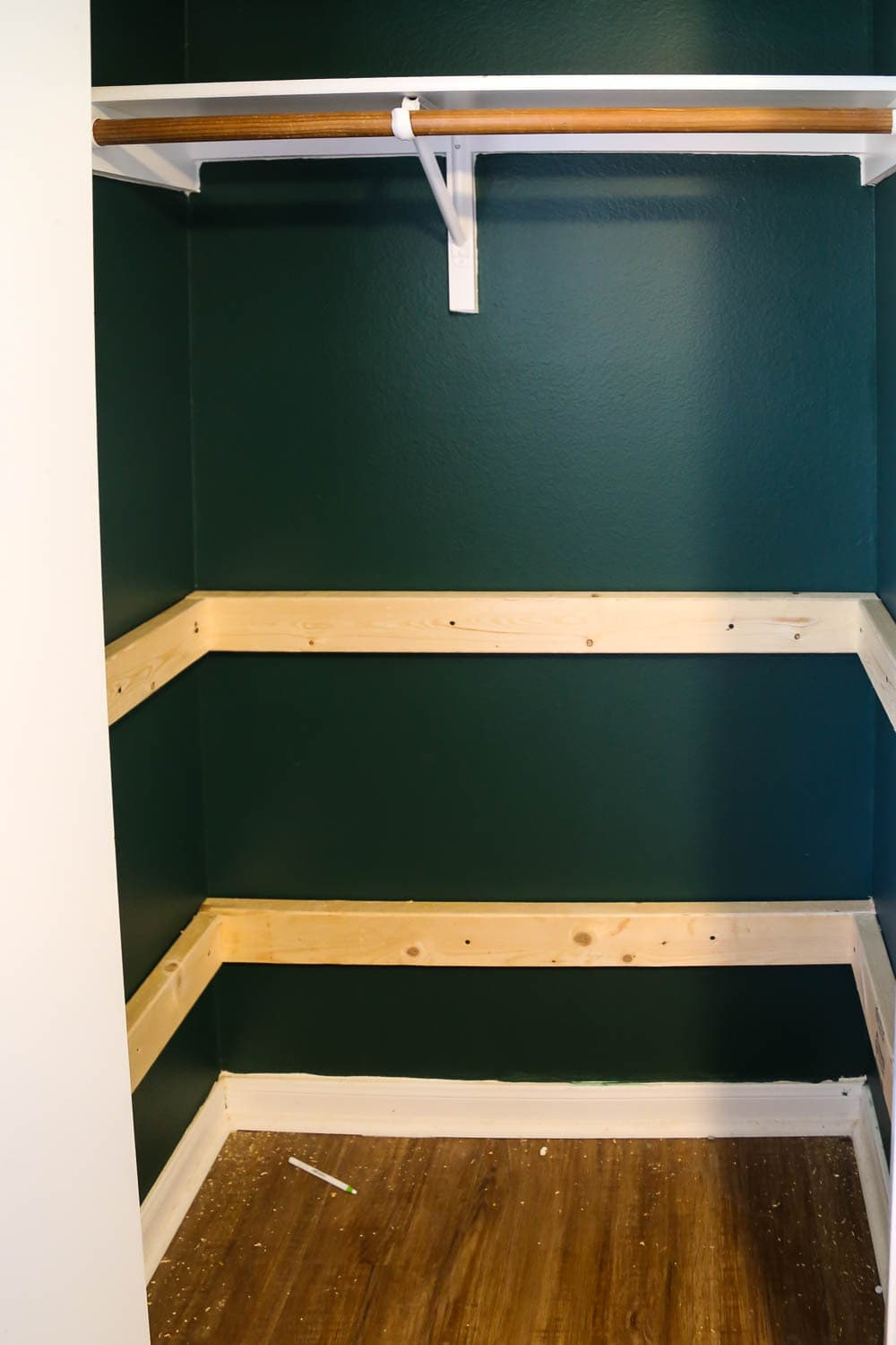 support boards for closet shelving
