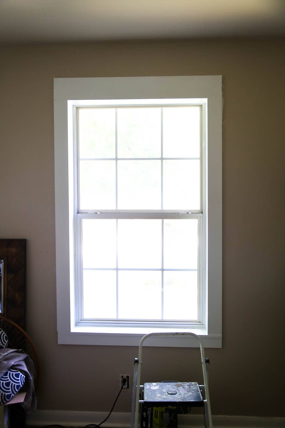 easy DIY window trim