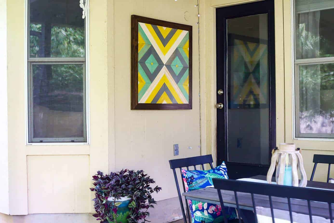 how to make gorgeous outdoor wall art