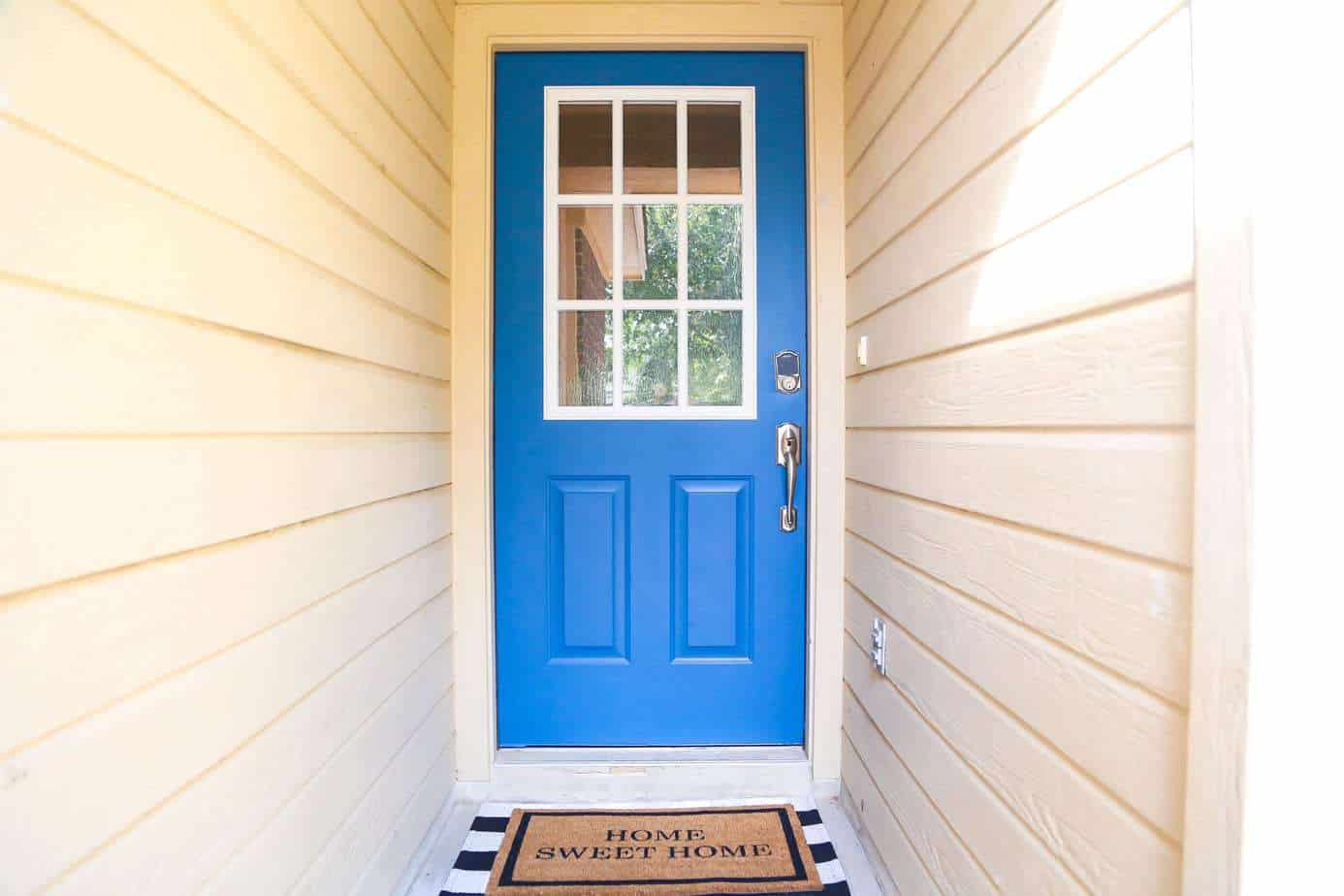 front door makeover after