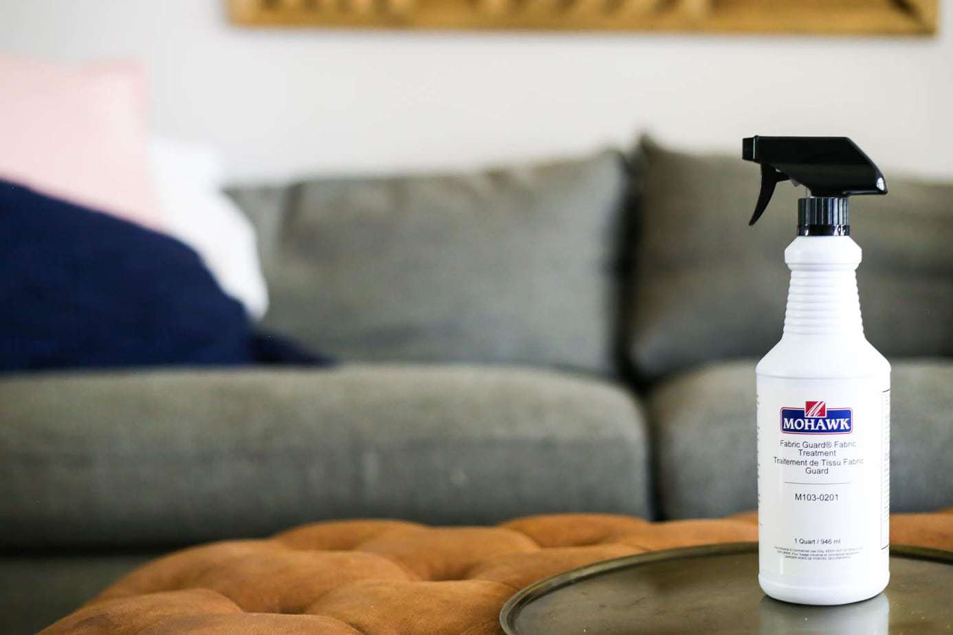 how to clean Crate & Barrel sofa