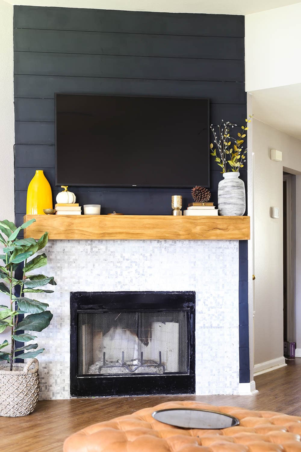 How To Build A Diy Fireplace Mantel Love Renovations