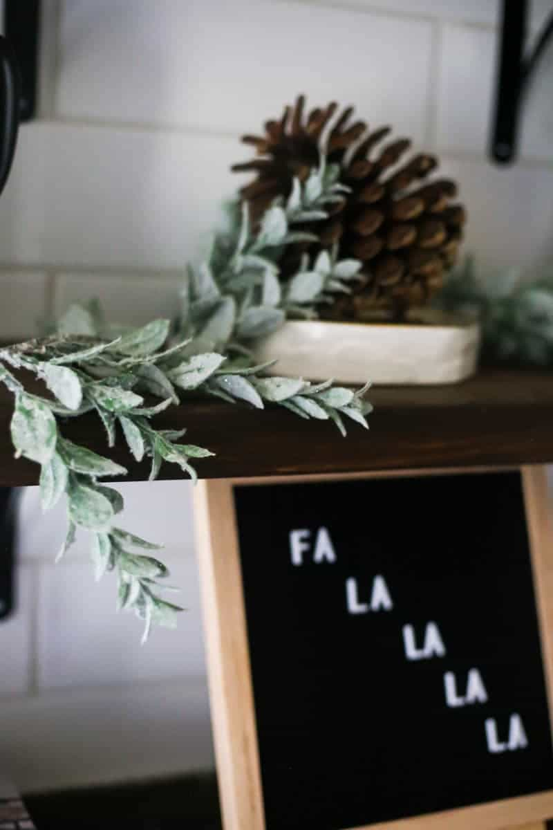 letter board with Christmas message