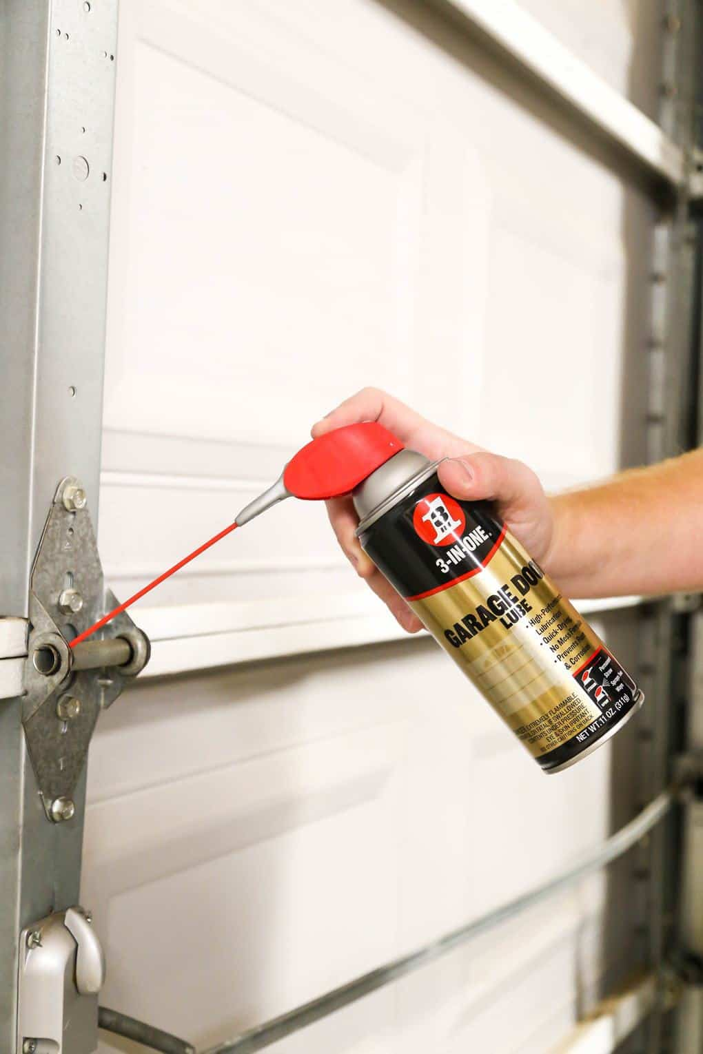 3-in-1 garage door lube for garage door maintenance
