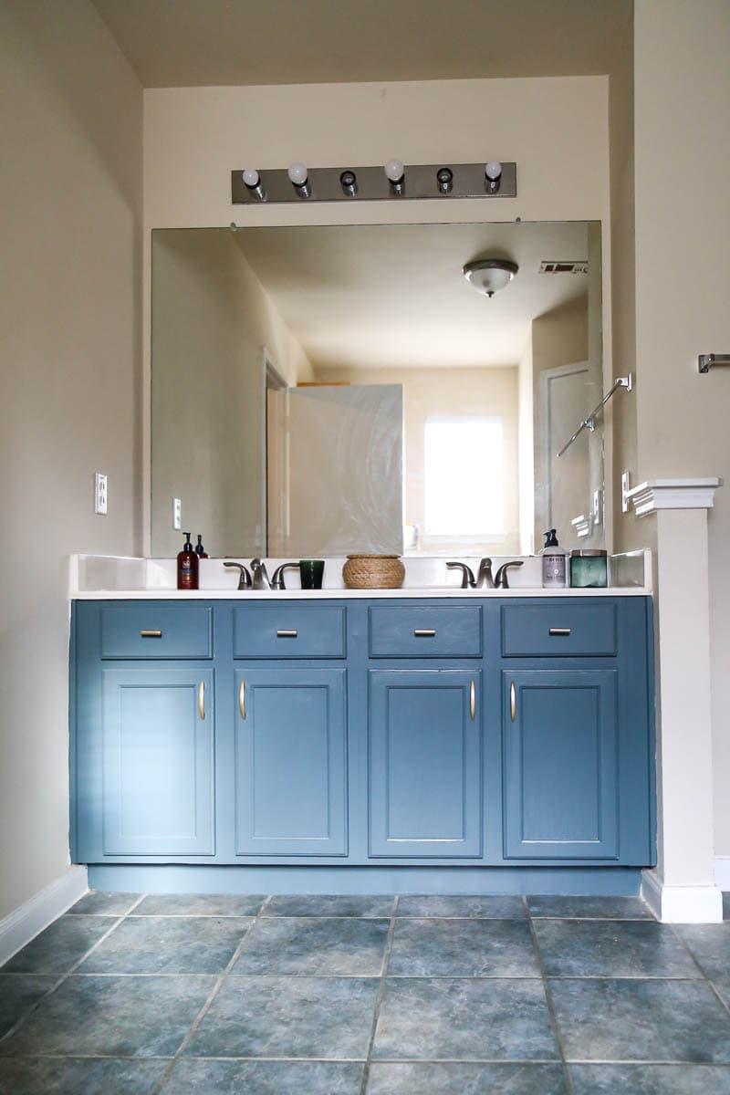 Painting A Bathroom Vanity Without Sanding Love Renovations