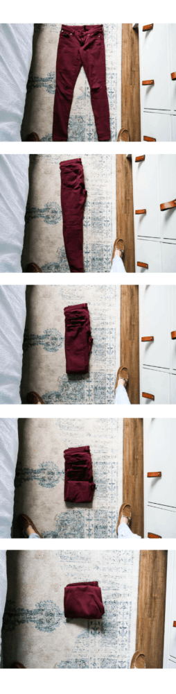 how to fold pants using the konmari method