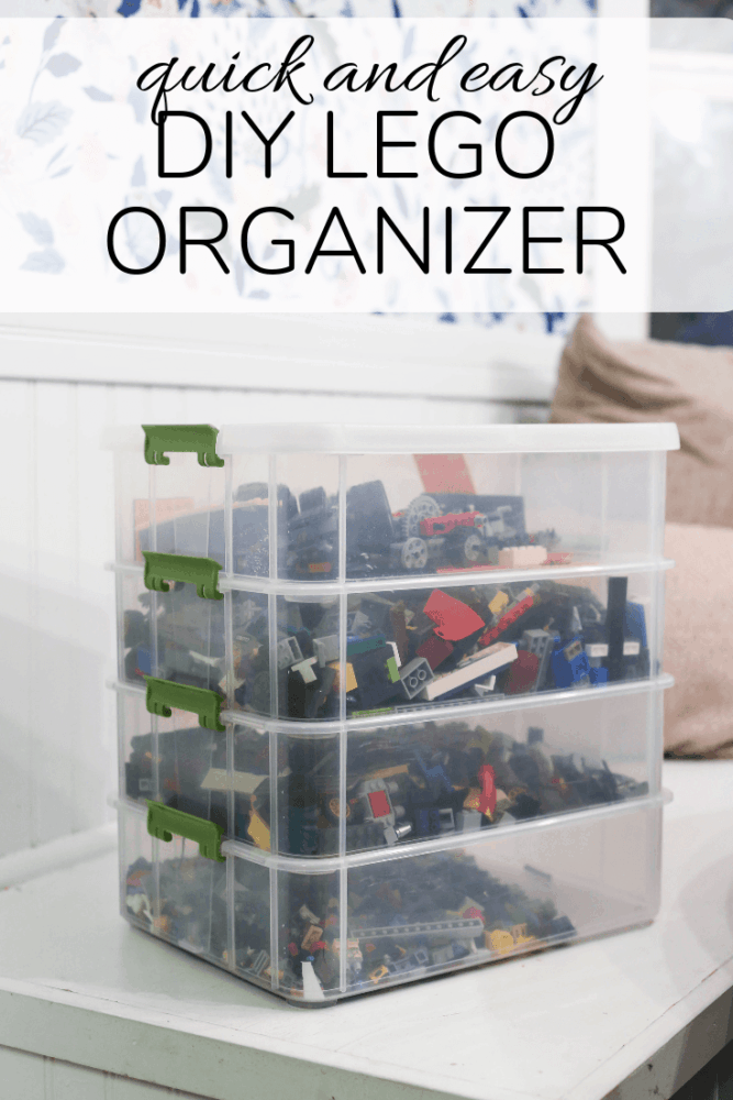 LEGO sorter with text overlay - quick and easy DIY LEGO organizer