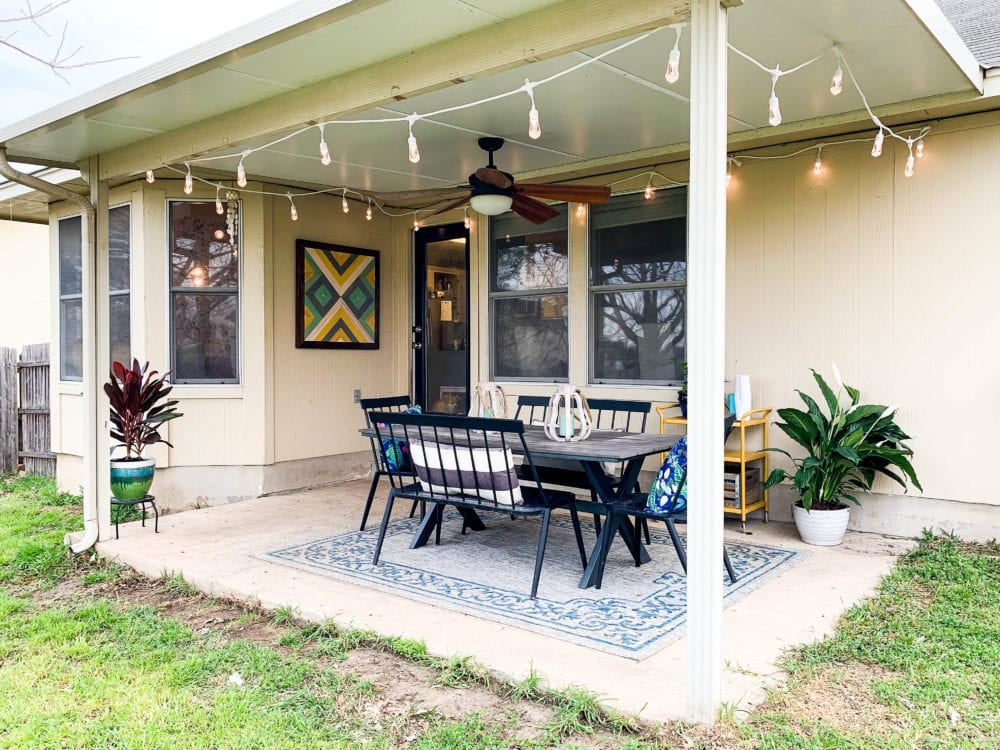 back porch before makeover