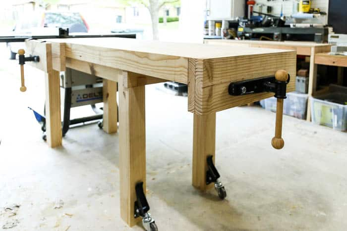 DIY workbench with accessories