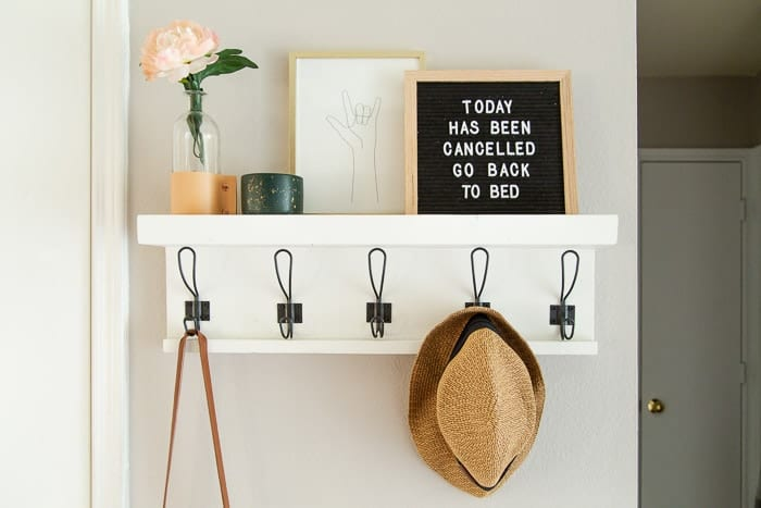 entry with wall hooks