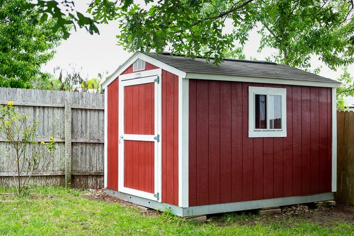outdoor shed painted red