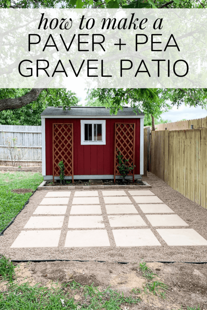 Diy Paver Pea Gravel Patio Love Renovations