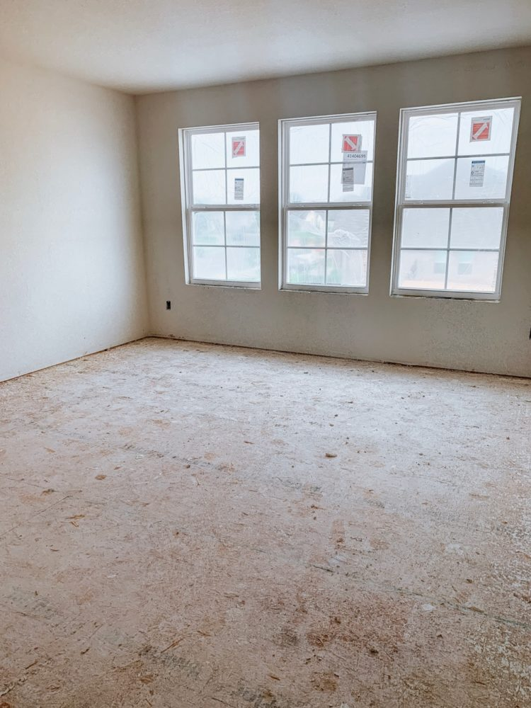 bonus room in new construction home
