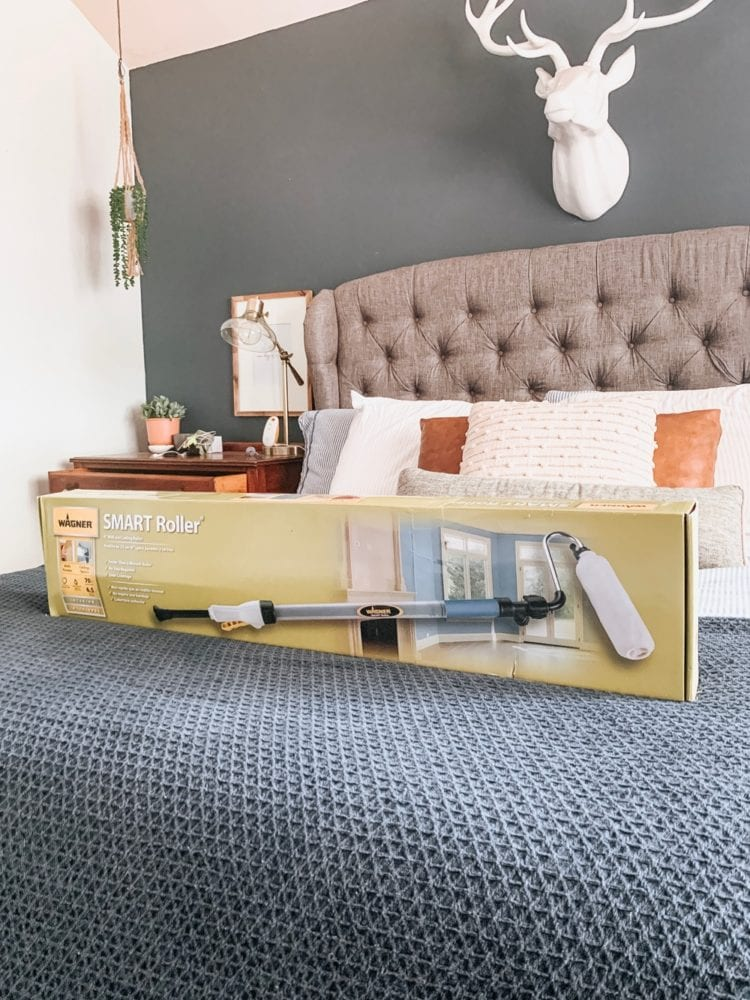 wagner smart roller sitting on a bed