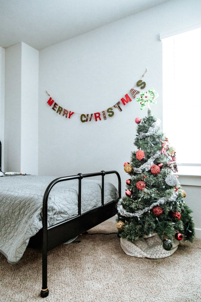Christmas boy's room