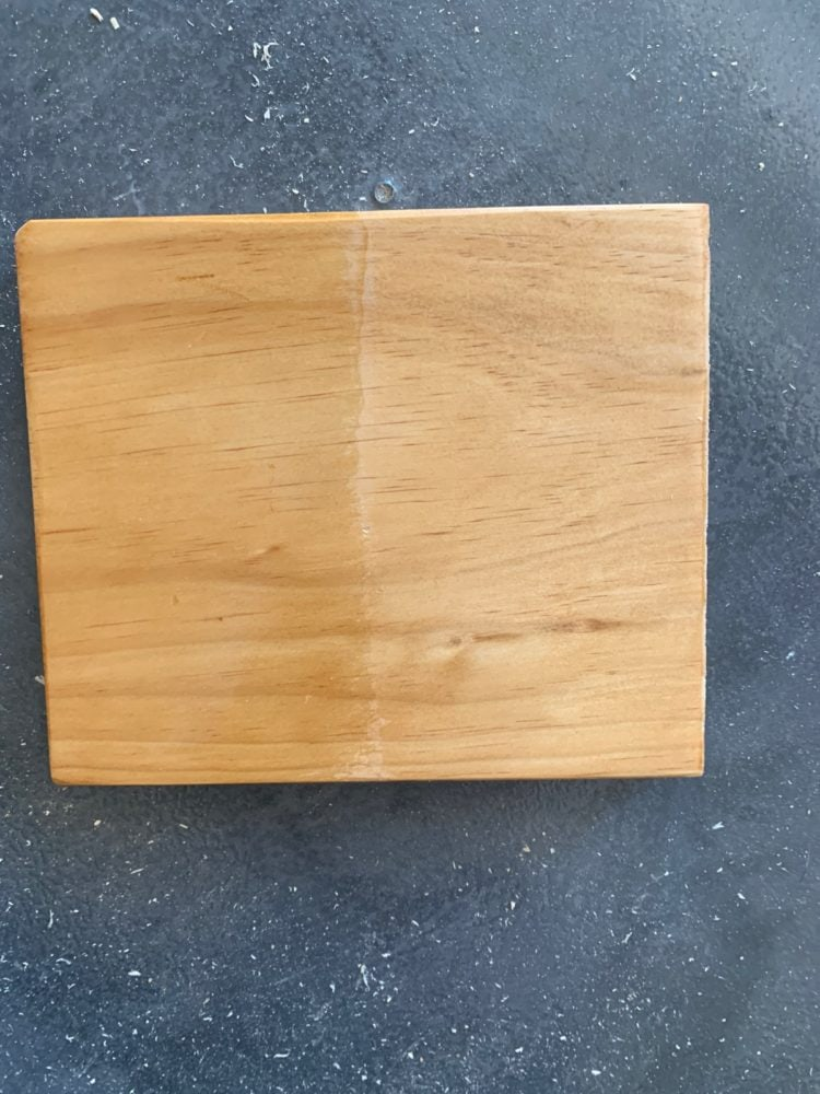 wood sealed with oil and water based poly