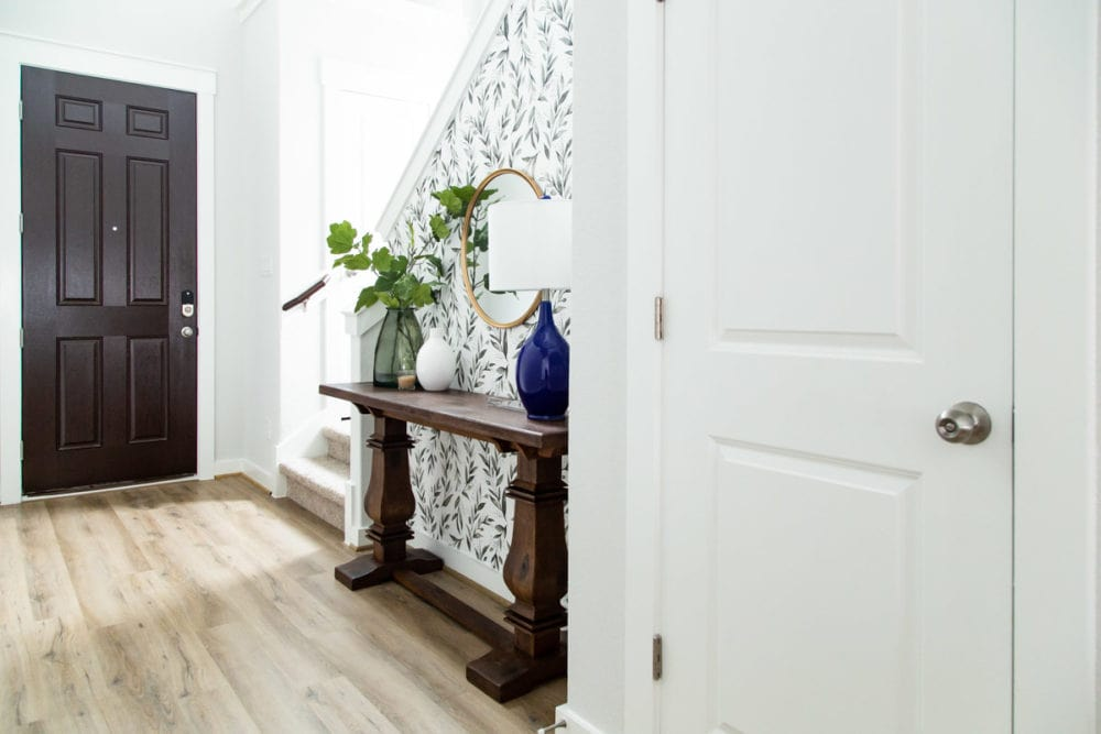 small entryway after