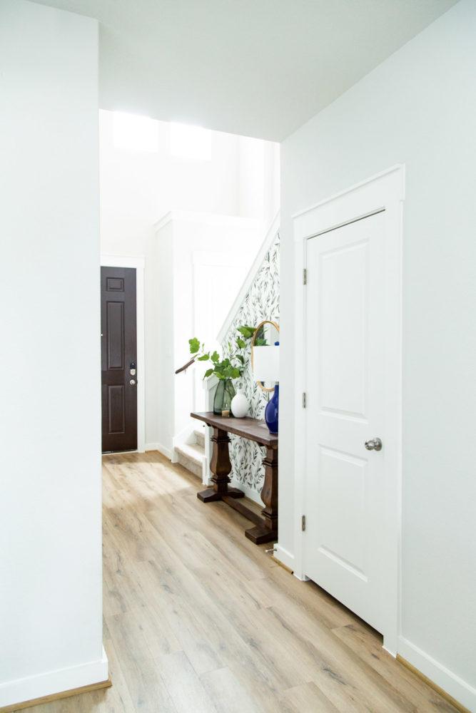 wide view of entryway makeover