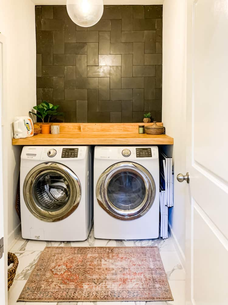laundry room after renovation
