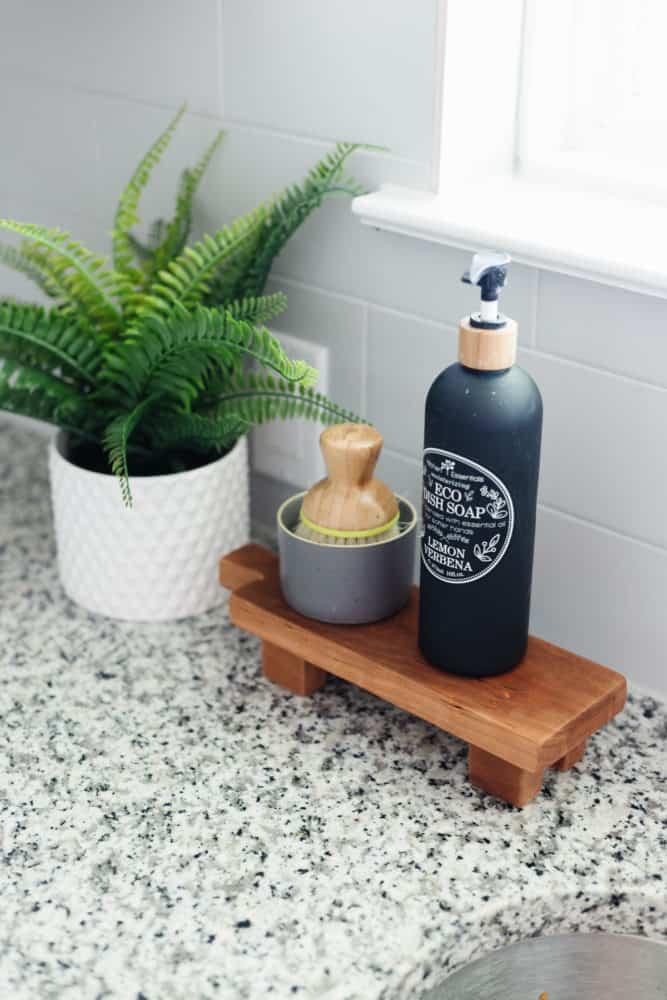 Simple DIY footed tray for soap