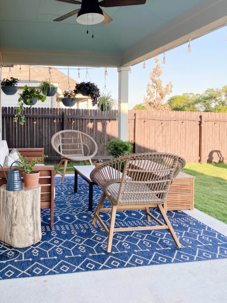 Small patio seating area