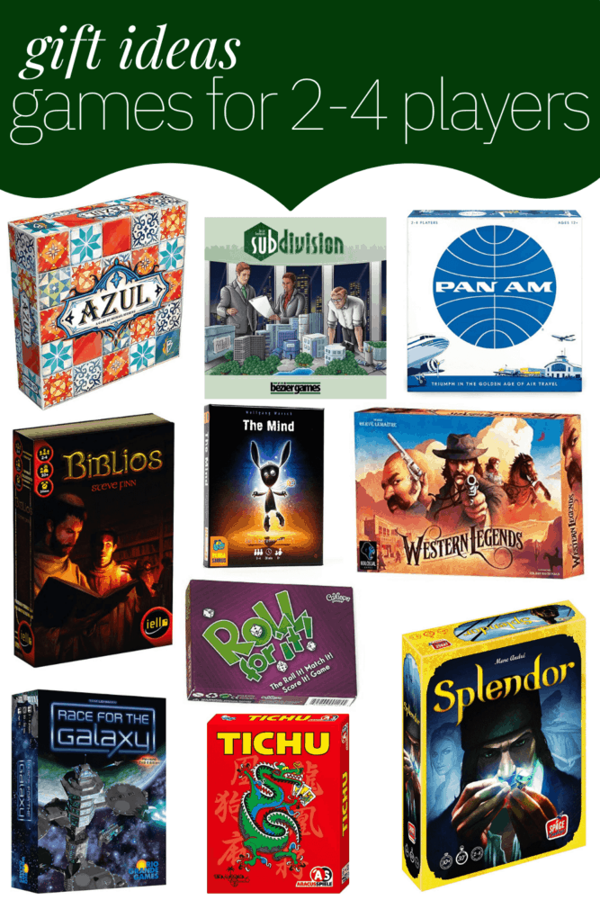 A collage of 2-4 player games
