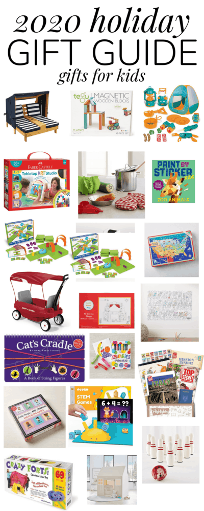 a collage of gift ideas for kids this holiday season