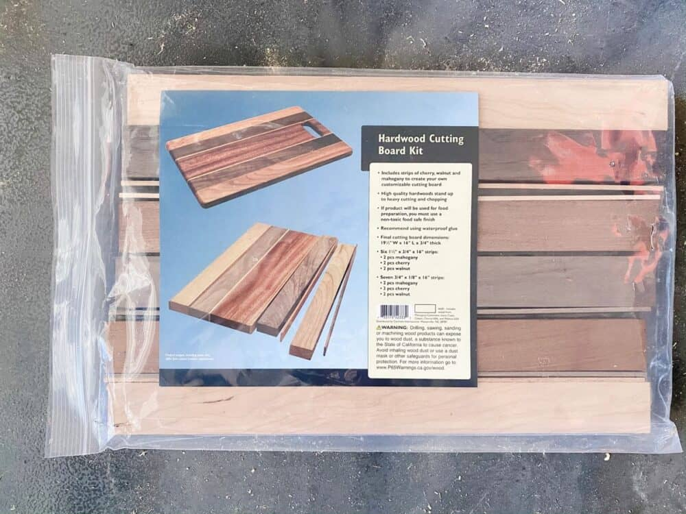 hardwood cutting board kit from Rockler