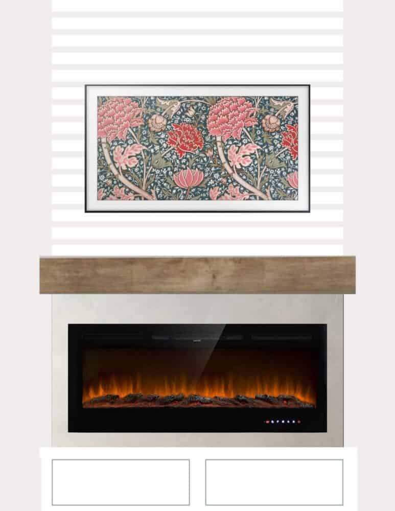 DIY electric fireplace design