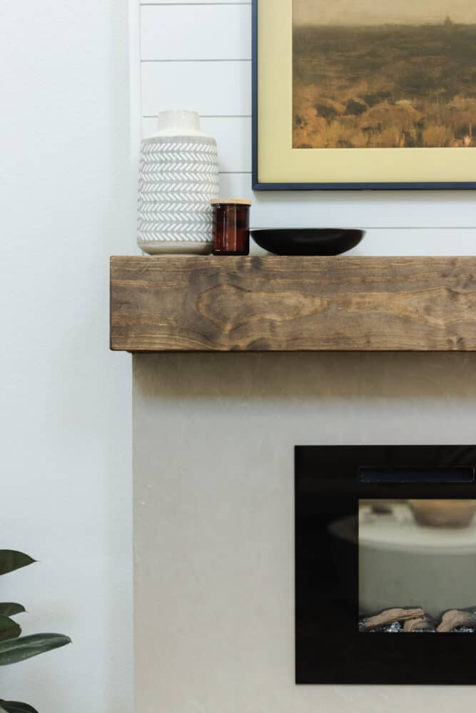 DIY electric fireplace details