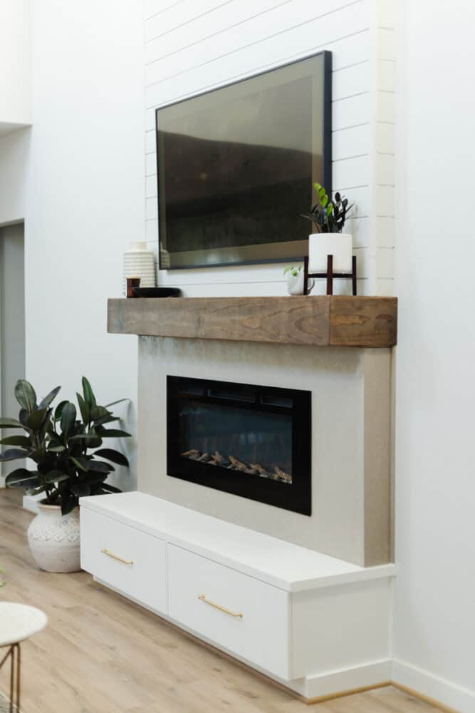 DIY two-story electric fireplace