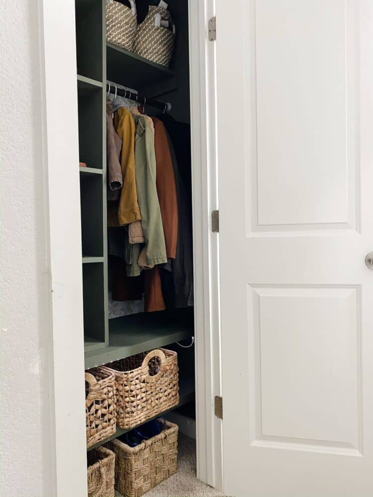 DIY entry closet organization