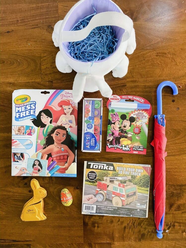 Collection of Easter basket filler ideas for a 2 year old boy