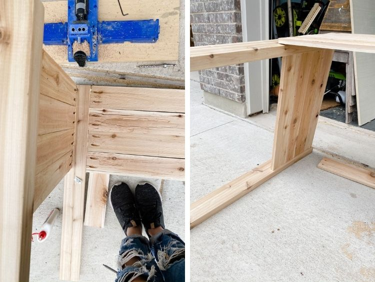 Details of how to assemble DIY raised garden bed