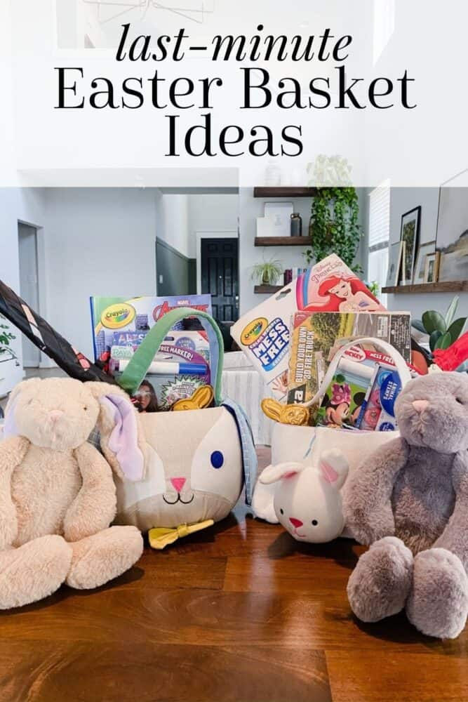 two Easter baskets filled with toys